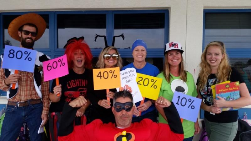 teachers dressed in costume